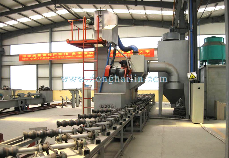 QG steel pipe shot blasting machine
