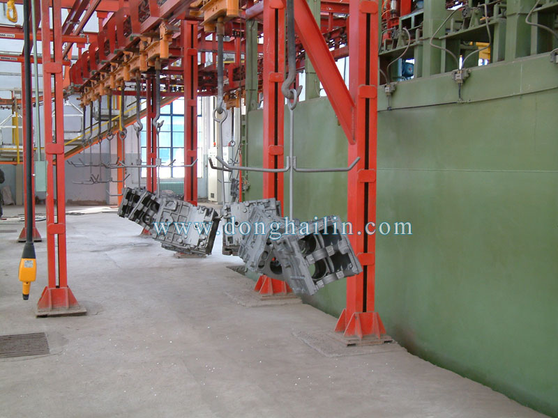 Q38 catenary type shot blasting machine