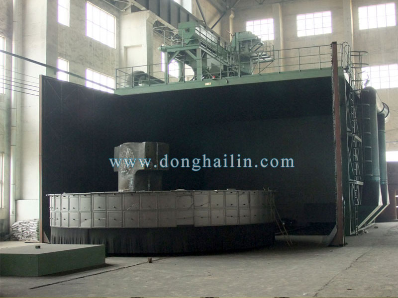 Q76200 turntable shot blasting machine