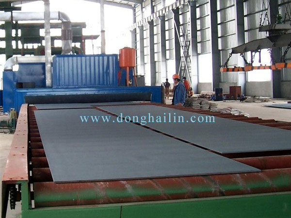 roller conveyors shot blasting machine