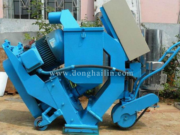 Movable shot blasting machine