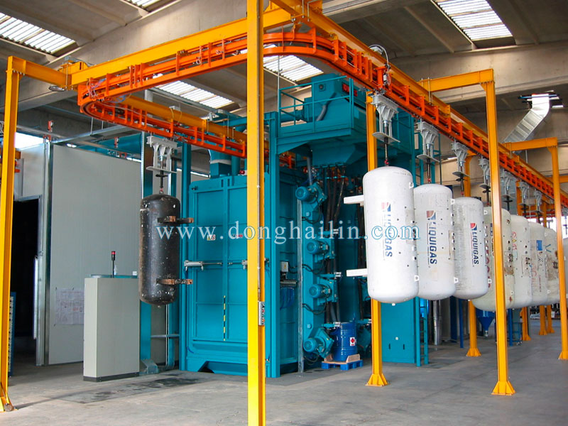 catenary type shot blasting machine